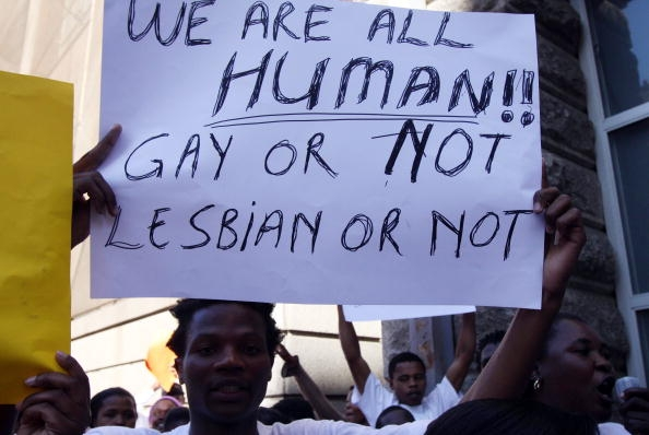 from Tucker gay rights protest human rights day
