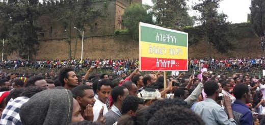 Demonstrators in Ethiopia