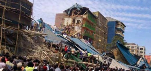 Site of Kisii building that collapsed