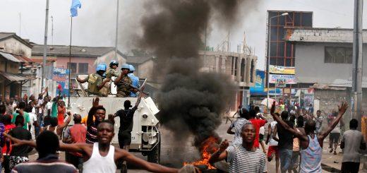 Protestors in DRC Congo