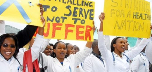 Kenyan health workers