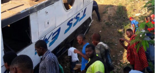 The scene of the accident in Bonje, Mazeras