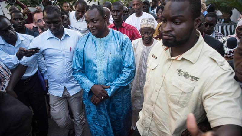 Barrow has urged Gambians to 'exercise restraint' in the run-up to his inauguration © AJ