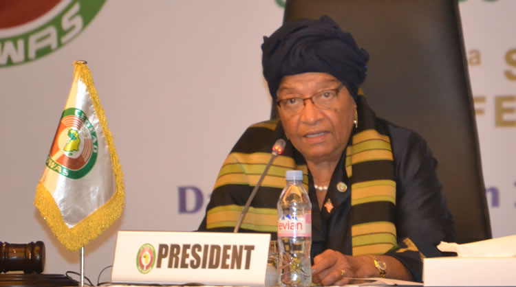 ECOWAS Chairperson, President Ellen Johnson-SirleafSpeaks on Political Situation in Gambia/ Getty images