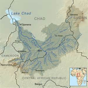 An aerial overview of Lake Chad